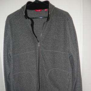 IZOD Men's Long Sleeve Gray Full Zip Fleece Jacket